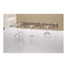 Glazenrek Plafond- en Wandmodel | Verchroomd | 45 x 31 cm. Glazen Ophangrekken