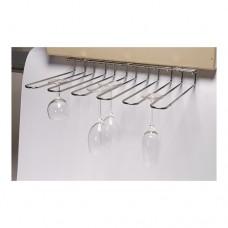 Glazenrek Plafondmodel | Verchroomd | 46 x 32 cm. Glazen Ophangrekken