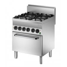 Gasfornuis 4-pits met Oven Serie 650 Snack