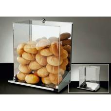 Broodjesdispenser van Inox voor 45 - 50 Broodjes Broodmanden