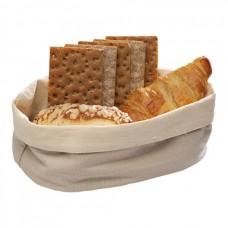 Broodmand Katoen Beige Ovaal