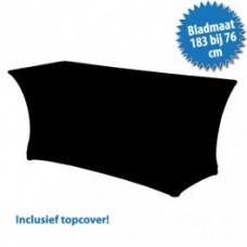 Combirok Stretch met Topcover Zwart 183 x 76 cm. Tafelrokken