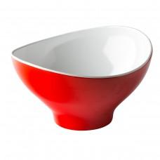 Melamine Ovale Kom Rood / Wit