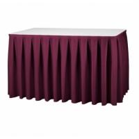 Tafelrok Boxpleat Stof President   580 x 73 cm.   100% Polyester   Incl. Hanger Tafelrokken