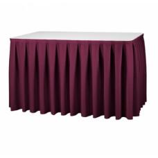 Tafelrok Boxpleat Stof President | 580 x 73 cm. | 100% Polyester | Incl. Hanger Tafelrokken