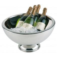 Champagne / Wijnkoeler Dubbelwandig Hoogglans RVS 10.5 L
