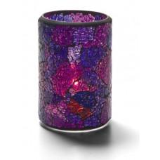 Cilinder Lamp Gebarsten Glas Blauw / Paars Per Stuk Tafelverlichting