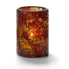 Cilinder Lamp Gebarsten Glas Goud Per Stuk Tafelverlichting