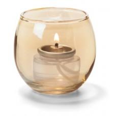 Hollowick Theelicht Luchtbel Goud Glas | 6,7 X 6 cm. | 12 stuks Hollowick Theelicht