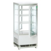 Mini-Koelvitrine met Gebogen Glas en 2 Deuren 86 Liter