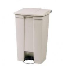 Afvalcontainer met Pedaal Beige Inhoud 87 liter Afvalbakken
