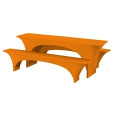 Bierbankhoes Fortune Oranje 220 x 50 cm.