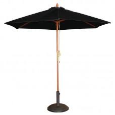Bolero ronde zwarte parasol 3 meter Parasols