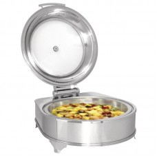 Chafing Dish Electrisch Hydraulische Deksel Rond 280W Chafing Dishes