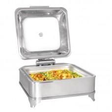 Chafing Dish Electrisch Hydraulische Deksel Vierkante 280W Chafing Dishes