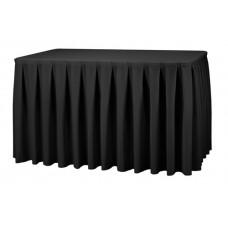 Combirok Boxpleat Stof Poly Jersey Zwart 183x76x73