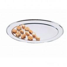 Ovale rvs serveerschaal 50cm Serveerschalen