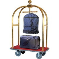 Bagage Trolley met Hangerrail Messing Transportwagens