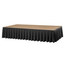 Podiumrok Boxpleat Stof President Zwart H80xL410cm
