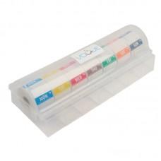 Vogue Afneembare Kleurcode Dagstickers met Kunststof Dispenser Voedselstickers