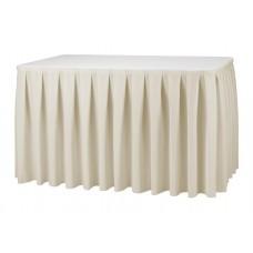 Tafelrok Boxpleat Stof President | 410 x 73 cm. | 100% Polyester | Incl. Hanger Tafelrokken