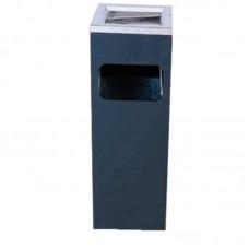 Bolero Vierkant Lobby Afvalbak met Asbak | 20 x 20 x H60 cm. Afvalbakken