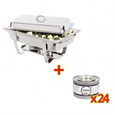 Chafing Dish met 24 x Olympia Brandpasta Gel  Chafing Dishes