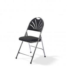 Klapstoel DeLuxe Chroom | Zwart met Motief Per 20 stuks Klapstoelen