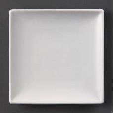 Olympia Whiteware Vierkant Bord 14 x 14 cm. Per 12 Olympia Wit Porselein