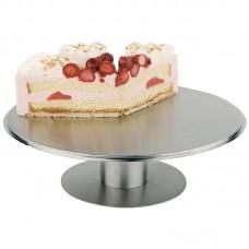 RVS draaibare taartschotel 30cm Buffetstandaard