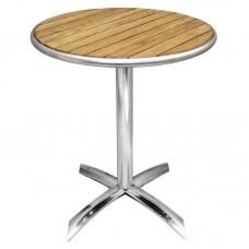 Bolero tafel essenhout blad rond 60cm Bistrotafels