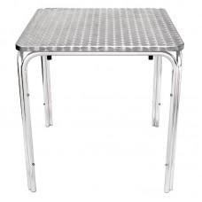 Bolero RVS tafel vierkant 70cm Bistrotafels