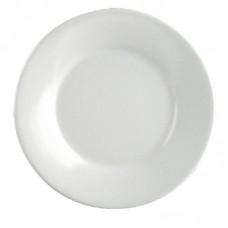 Melamine Bord met Brede Rand Ø 25.4 cm. Per 12 Melamine Borden