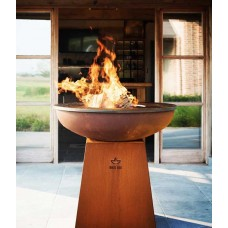 White Fire Cortenstaal Barbecue met Voet en Vuurschaal | Ø102 cm.  Barbecues